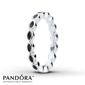 56 (7.5) Black Enamel Ring